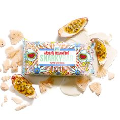 Kiwi seeds and natural scrubbing sugar beads, paired with shea butter, make this aggressive Snarky Bar perfect for exfoliating, plumping, and hydrating dry skin, with a sweet passionfruit and tangy citrus scent. Plus, passion flower seed oil is full of rejuvenating nutrients and fatty acids—and it won't clog pores. Rub over skin in the shower or bath. Rinse thoroughly and follow with moisturizer. Not recommended for face.