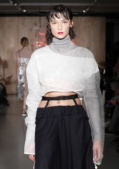 Kingston University postgraduate fashion student Jiyoon Lee's work on the catwalk at the MA Fashion show 2016. Find out more about the show: http://www.kingston.ac.uk/news/article/1721/16-sep-2016-kingston-universitys-ma-fashion-students-showcase-latest-collections-to-industry-experts-on-eve-of-london/?utm_source=Pinterest&utm_medium=Social&utm_campaign=KUPinterest&utm_content=MAfashpinterest