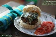 Lamb Burgers with Spinach Tzatziki