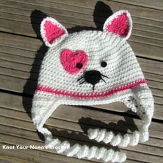 Knot Your Nanas Cat Hat - I might have to make this one for the kidlette (in better colours though).