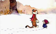 calvin and hobbes snow walkers