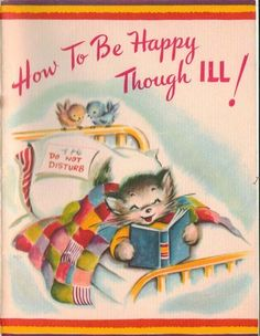 Vintage Get Well Card Cute Little Booklet Happy Sick Kitty Cat Kitten Old Greeting Cards, Old Cards, Sick Kitten, Vintage Cat, Vintage Images, Vintage Easter, Get Well Wishes, Get Well Cards, Christmas Cats