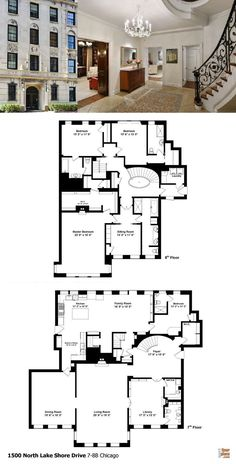 1500 N Lake Shore Dr, Unit Chicago, IL, 60610 is a listed at This is a real estate virtual tour. Town House Floor Plan, Porch House Plans, New House Plans, Modern House Plans, Luxury Floor Plans, Small House Floor Plans, House Plans Australia, Affordable House Plans, Farmhouse Floor Plans