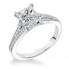 Every girl deserves a princess cut engagement ring from Wedding Day Diamonds!