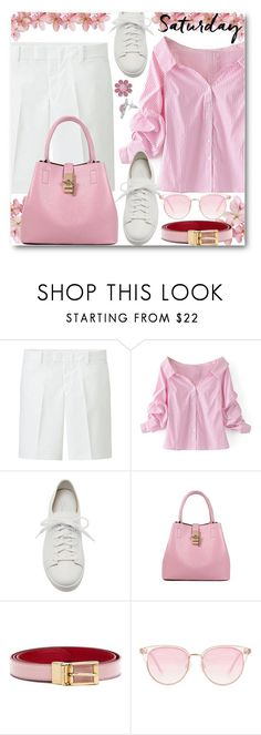 """""""Happy Saturday!!"""" by brendariley-1 ❤ liked on Polyvore featuring Uniqlo, WithChic, Santoni, Dolce&Gabbana, Le Specs and weekend"""