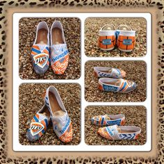 Hand Painted OKC Thunder Toms