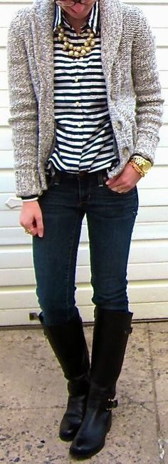 Braving The Cold  => Click to see what she wears