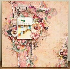 Forever Layout - Mixed Media World | Little Blue Craft Box