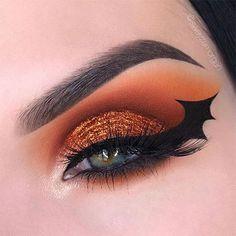 Creepy Halloween Eye Makeup Ideas & Looks 2020 | Modern Fashion Blog Bat Makeup, Eye Makeup Art, Costume Makeup, Makeup Inspo, Eyeshadow Makeup, Makeup Ideas, Bat Costume, Glow Makeup, Makeup Tutorials