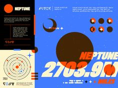 Neptune designed by Andrew Alimbuyuguen . Connect with them on Dribbble; Typography Logo, Lettering, Title Card, Saint Charles, Show And Tell, Graphic Design Illustration, Pretty Art, Graphic Design Inspiration, Banner Design