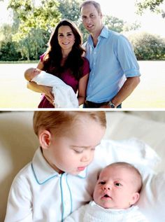 First official photographs of Prince George [2013] and Princess Charlotte [2015]