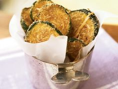 Breaded, oven-fried zucchini chips