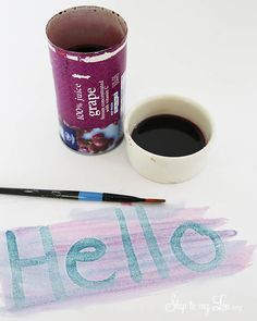 DIY invisible ink. A fun summer craft to do with kids! #craft #kids skiptomylou.org