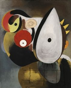 Joan Miró i Ferrà TÊTE HUMAINE Signed Miró. and dated (lower left); titled on the reverse Oil, wood, wire, sandpaper and thread on canvas 32 by 25 in. by cm) Executed in March, Sotheby's Magritte, Joan Miro Paintings, Human Head, Spanish Painters, Digital Painting Tutorials, Happy Art, Aboriginal Art, Art Auction, Canvas Art Prints