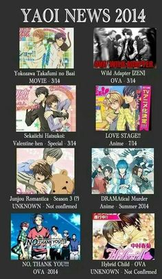 It looks like Usagi-San is with another man! DRAMAtical Murder looks amazing! And Junjou Romantica of course super super excited! I ❤️ Junjou Romantica so much! Anime Bad, Manga Anime, Anime Life, Yuri, Anime Reccomendations, Anime Suggestions, Anime Summer, Anime Watch, Love Stage