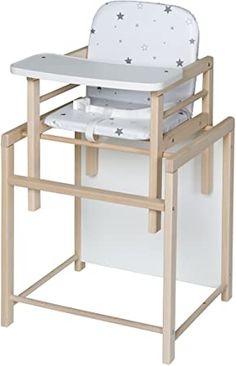 In drei Positionen einstellbares Esstischchen Kinderhochstuhl Treppenhochstuhl ab dem 6 ZOPA Holzhochstuhl DOLCE Ice Green Monat und bis 15 kg