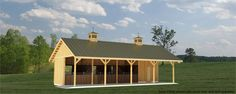Springcreek 4.0 Base Exterior Perspective, Trilogy Barn and Stable Company - stable and indoor arena designs, www.trilogybarns.com