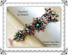 BP-TWIN-001  Succulents  Twin & Seed Beadwork PATTERN di TrinityDJ