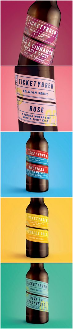 Carter Wong Revamp for British Craft Beer is just the Ticket Design Agency: Carter Wong Brand / Project Name: TicketyBrew Location: United Kingdom Category: #Beer #Drinks  World Brand & Packaging Design Society