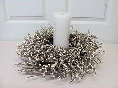 Window Wreath or Candle Ring Mini Wreath by Designawreath