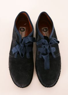 If I do laces they should be like this: soft floppy, irregular with a slight sheen, irredescence or sheer.   LANVIN