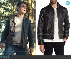 Clay 13 Reasons Why, Leather Collar, Leather Jacket, Clay Jensen, Virtual Fashion, John Varvatos, Other Outfits, Collars, Zip