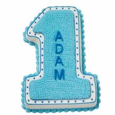 Baking His First Birthday Cake is a simple matter when you use our shaped #1 Pan. Outlines, stars, dots and shells, the 4 most basic decorating techniques, are all you need for this design.
