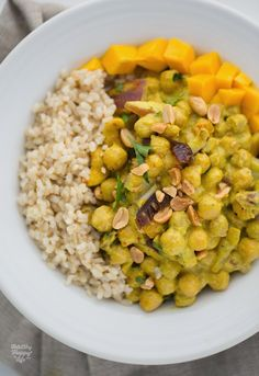 Peanut-Ginger Curried Chickpeas Over Rice