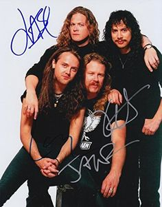 Metallica (James Hetfield, Lars Ulrich, Kirk Hammett, & Robert Trujillo) signed 8x10 photo