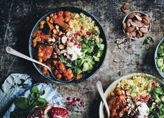 Moroccan Aubergine & Chickpea Stew (Green Kitchen Stories) - Here is a suggestion in case you are looking for a new recipe to try over the weekend. New Recipes, Vegetarian Recipes, Cooking Recipes, Healthy Recipes, Vegetarian Stew, Vegetarian Times, Lamb Recipes, Healthy Drinks, Italian Recipes