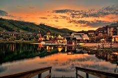 Blue mountain village, four season resort, Collingwood, Ontario, Canada Places Around The World, Around The Worlds, Great Places, Beautiful Places, Somewhere On A Beach, Mountain Village, Sky Photos, City Architecture, Blue Mountain