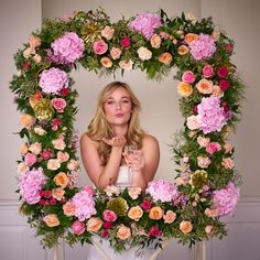 A floral photo frame will provide hours of fun for your guests!