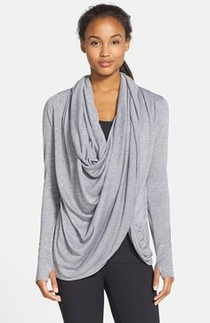 Zella 'Neo' Wraparound Cardigan available at #Nordstrom