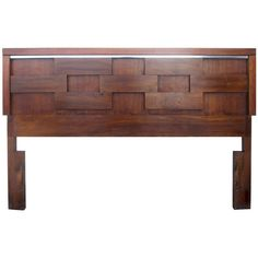 Brutalist Headboard by Lane | From a unique collection of antique and modern beds at https://www.1stdibs.com/furniture/more-furniture-collectibles/beds/