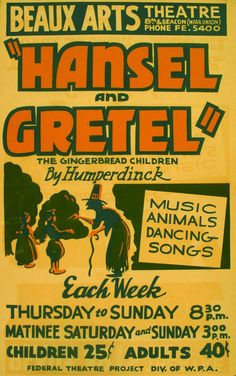 """""""Hansel And Gretel,"""" The Gingerbread Children By Humperkinck Music, Animals, Dancing, Songs"""
