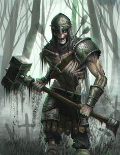 Skeleton Warrior, Victor Lozada on ArtStation at https://www.artstation.com/artwork/KzDR4