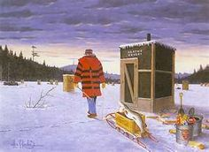 """Ice Fishing (Les Kouba) Done with an """"old School"""" Artograph (being he did design the company's products)"""