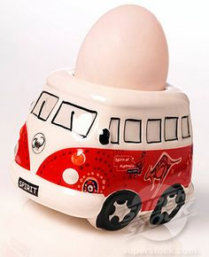 Vw Bus Egg Cup  (Hey Sis this looks like what I got you and said it would make a good pin cushion!