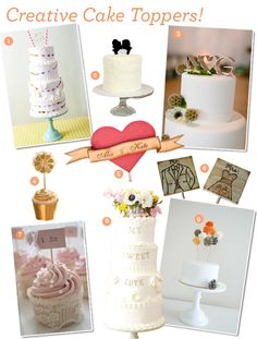 Desserts: Creative Cake Toppers