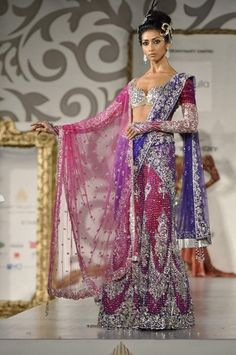 Bridal Outfits by Neeta Lulla. If you have ever wondered the designer behind Aishwarya Rai's gorgeous outfits in Jodha Akbar, its none other than Neeta Indian Dresses, Indian Outfits, Indian Clothes, Pakistani Dresses, Indian Sarees, Pakistani Bridal, Indian Bridal, Saris, Indian Style