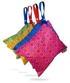 Amazon.com: Bummis Fabulous Wet Diaper Bag, Pink, Small: Baby