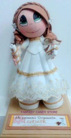 Fofucha Primera Comunión Fiesta Decorations, Lalaloopsy, Princess Zelda, Disney Princess, First Communion, Christening, Girl Dolls, Arts And Crafts, Seasons