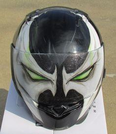 Spawn custom airbrushed painted motorcycle helmet #hjc