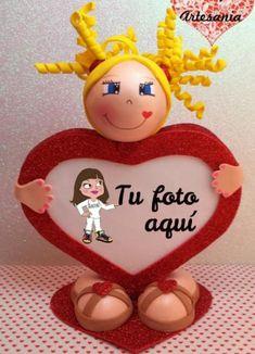 Fofuchas+San+Valentin | fofucha san valentín marco foto goma eva,porex,silicona goma eva ...