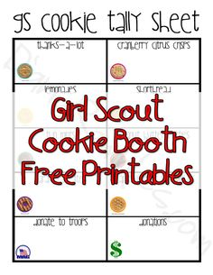 Tips for a Successful Girl Scout Cookie Booth Sale and Free Printables
