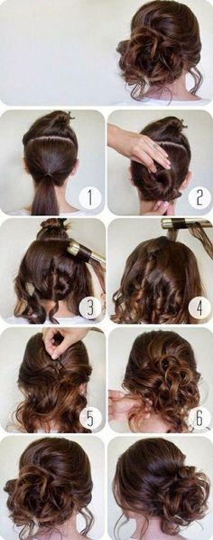 schnelle-frisuren-braune-haare-hochsteckfrisur-selber-machen-frauen
