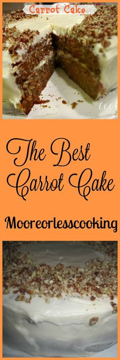 This is the BEST Carrot Cake! An incredibly moist carrot cake recipe with an ultra-creamy cream cheese frosting!