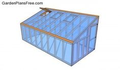 Step by step diy project about lean to greenhouse plans. Building a lean to greenhouse is a great weekend project, especially if you want to grow your own vegetables. Diy Greenhouse Plans, Simple Greenhouse, Greenhouse Supplies, Lean To Greenhouse, Backyard Greenhouse, Underground Greenhouse, Portable Greenhouse, Greenhouse Plants, Backyard Farming