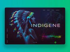 Indigene (user interface landing page design)
