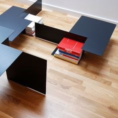 Form Table by Pawel Grobelny. Looks like it might actually serve best as a coffee table or end table, rather than a desk. Office Bookshelves, Petites Tables, Sideboard Buffet, Design Furniture, Design Reference, Office Interiors, End Tables, House Design, Interior Design
